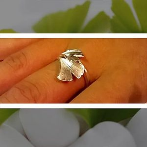 Ginkgo biloba gyűrű